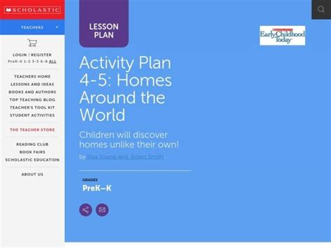 Homes Around The World Lesson Plan For Pre-k