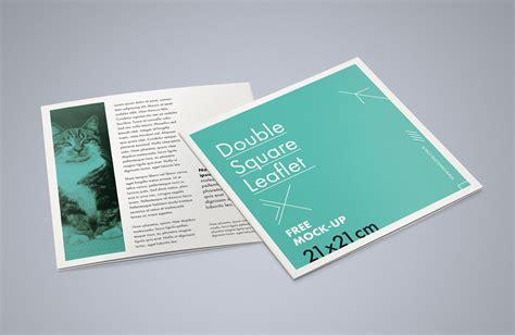 square bi fold brochure mockup psd good mockups
