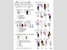 one suitcase checklist summer business casual capsule