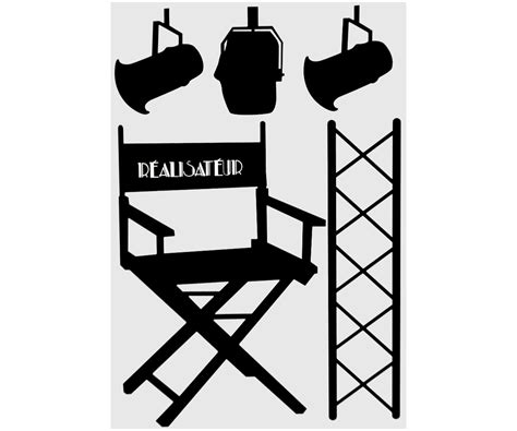 chaise de cinema pas cher planche 5 stickers cinema vintage projecteur