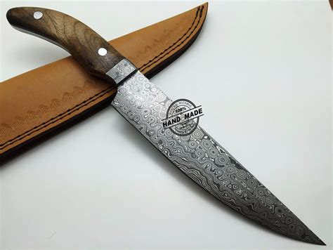 steel kitchen knives damascus kitchen knife custom handmade damascus steel kitchen