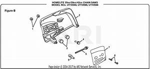Homelite Ut10568 16 In  38cc Chain Saw Parts Diagram For