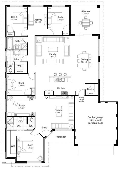 Dream House Plan: Separate wings for bedrooms, Separate