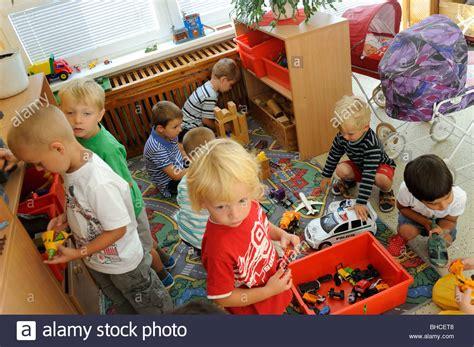 preschool kids playing preschool children in class with toys stock photo 316