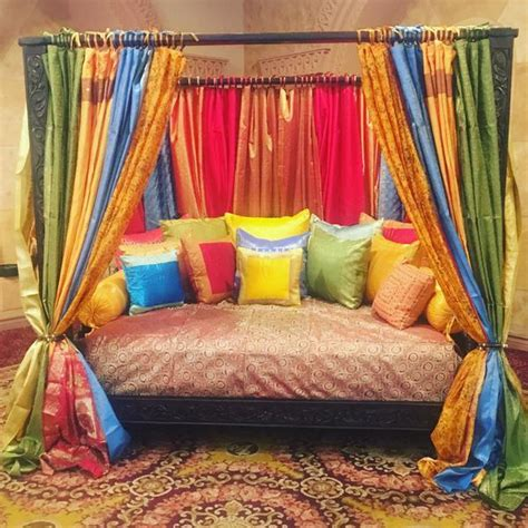 indian full size canopy daybed mediterranean style