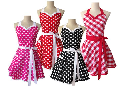 tablier de cuisine vintage retro kitchen apron for cotton polka dot