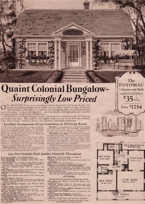 potomac kit home montgomery ward colonial revival cottage