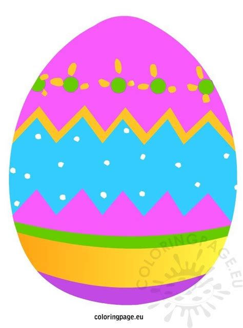 colored easter egg coloring page