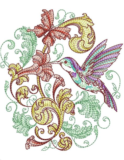 Spring Baroque | Machine Embroidery Designs By Sew Swell