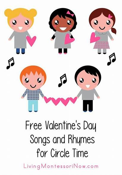 Songs Rhymes Circle Valentine Valentines Montessori Clipart