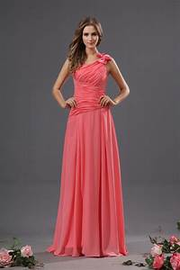 Elegant Collection of Coral One Shoulder Bridesmaid ...