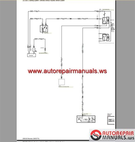 Ford Mondeo Wiring Systems Diagram Auto