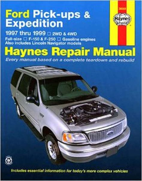 free auto repair manuals 1999 ford expedition transmission control 1999 ford expedition owners manual free