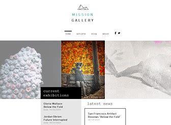 Contemporary Art Website Templates modern art gallery website template wix