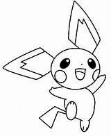Pichu Coloring Pages Happy Pokemon Pikachu Jumping Around Colorluna Template Credit Larger Sketch Getcoloringpages Getdrawings sketch template