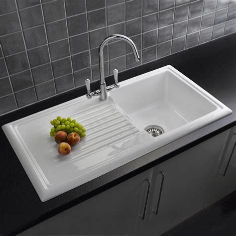 white ceramic kitchen reginox 1 0 bowl white ceramic kitchen sink waste tap pack