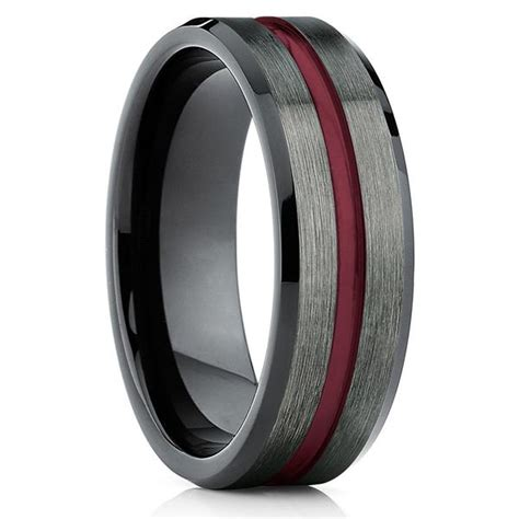 tungsten wedding band gunmetal tungsten wedding ring