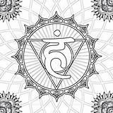 Coloring Chakra Mandala Tattoo Chakras Vishuddha Outline Creative Colouring Mandalas Books Zenting Speech Printable Symbols Adult Throat Peace Yoga Mel sketch template