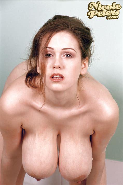 Nicole Peters Lets Her Big British Titties Dangle