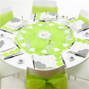Deco Vert Anis : centre de table rond vert anis decoration de table ~ Teatrodelosmanantiales.com Idées de Décoration