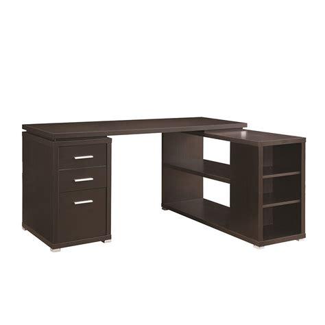 senga down l shape computer desk parson corner desk with shelving unit dark brown home