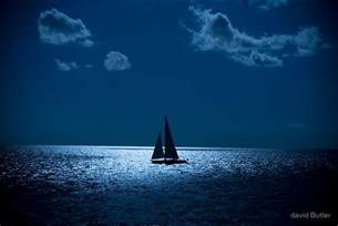 Sailboat Wall Decor by Quot Sailboat At Night Quot By David Butler Redbubble