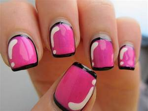 Hot pink nail polish designs facebook art pictures