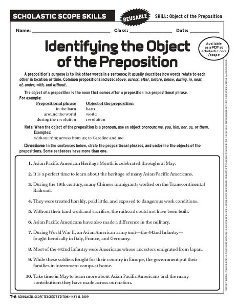 All Worksheets » Prepositional Phrases Worksheets  Printable Worksheets Guide For Children And