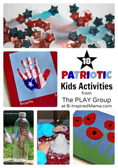 4th of july activities weekend links 330 | Patriotic Activities for Kids from The PLAY Group at B InspiredMama