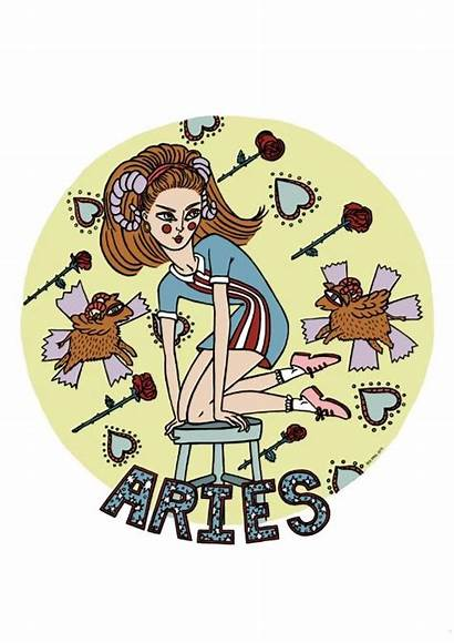 Aries Zodiac Prol Painting Iria Portfolio Society6