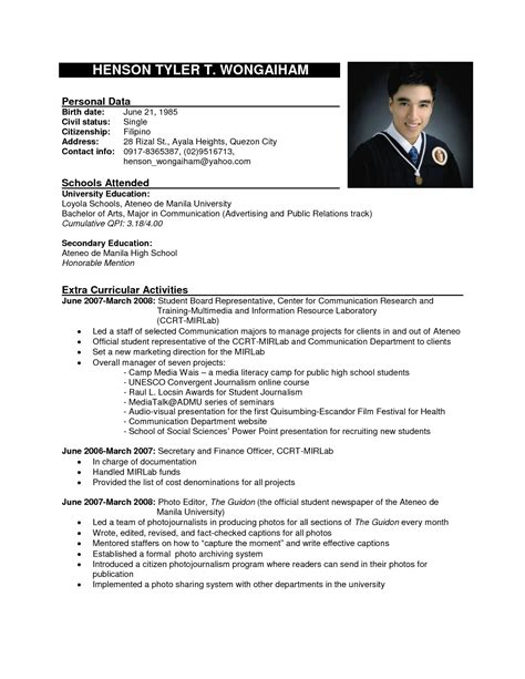 Resume Format For Application by 12 Exle Of Applying Resume Penn Working Papers