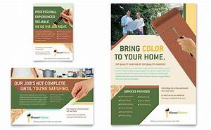 painter painting contractor flyer ad template design With painting flyers templates free