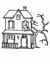 Coloring Haunted Pages Tree Spooky Mansion Dead Beside Sun Template Printable Sheets Trees Colorings Halloween Utilising Button Getdrawings Getcolorings Grab sketch template