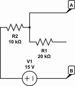 thevenin in diode circuit electrical engineering stack With open circuit tv