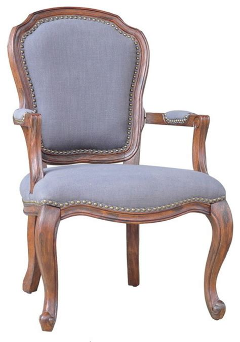 crestview cvfzr904 providence wood accent chair w grey