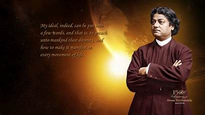 Vivekananda Swami Wallpapers Quotes Inspire Orange Motivational