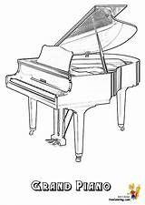 Piano Musical Coloring Pages Grand Instruments Yescoloring Instrument Harpsichord Keyboard Cool Pianos Template Electric Tree Magic Guitar Mighty sketch template