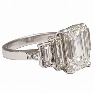 gia certified emerald cut and baguette engagement ring at With baguette wedding ring