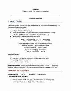 financial analyst resumes examples
