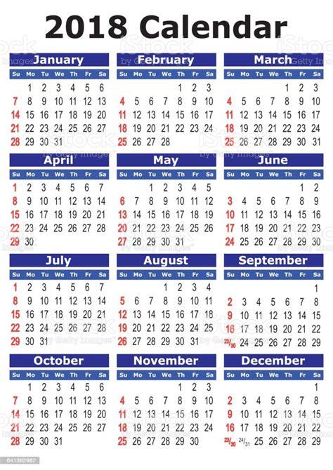 simple vector calendar  stock illustration