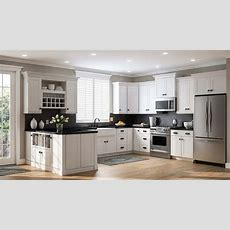 Shaker Base Cabinets In White  Kitchen  The Home Depot