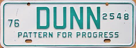 And Dunn License Plate by 76 Carolina