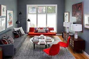 wonderful living room color schemes to beautify your home With the color combination for red living room