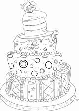 Cake Stamp Digi Whimsical Coloring Pages Stamps Digital Fringe Crafts Beyond Colouring Clip Birthday Them Adult Cards Beyondthefringecrafts Printable Cakes sketch template