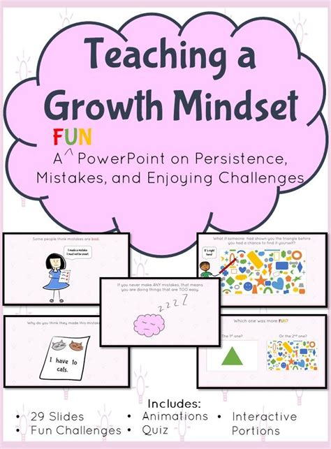 growth mindset  interactive powerpoint  persistence