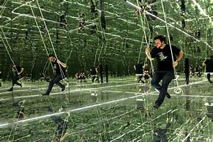 aesthetic grounds other funhouses mirror rooms by With swing to infinity inside thilo franks mirrored room