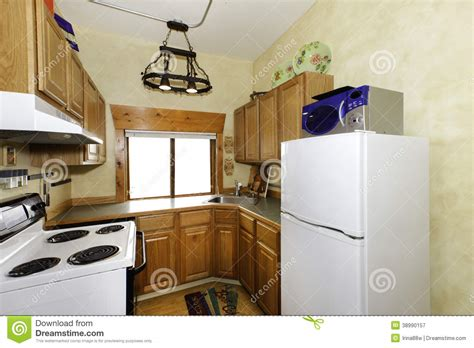 small simple kitchen room stock image image  kitchen