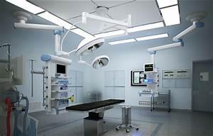 Simple restaurant room, hospital operating room design