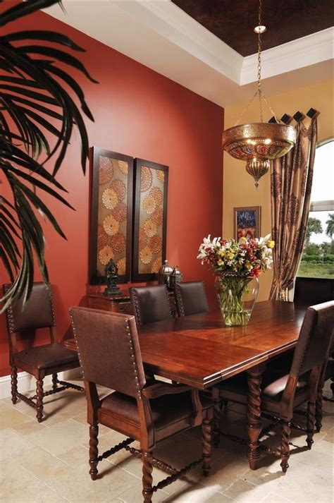 bathroom wall prints rust paint color dining room mediterranean with wall