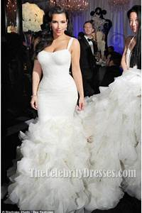 kim kardashian ivory mermaid wedding gown bridal dress With how much was kim kardashian s wedding dress